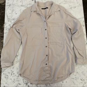 Zara oversized button up shirt nwot